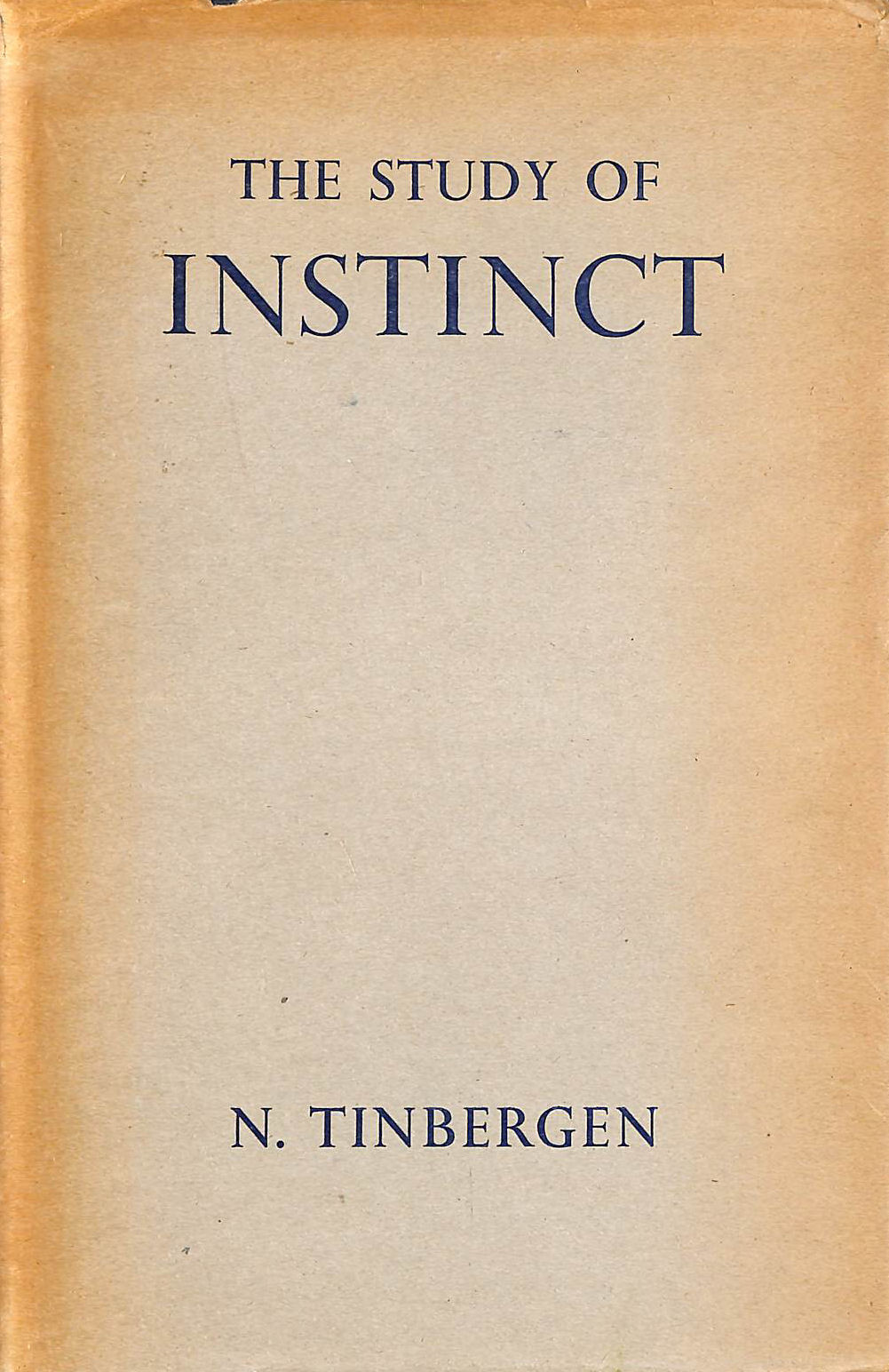 Image for The Study Of Instinct