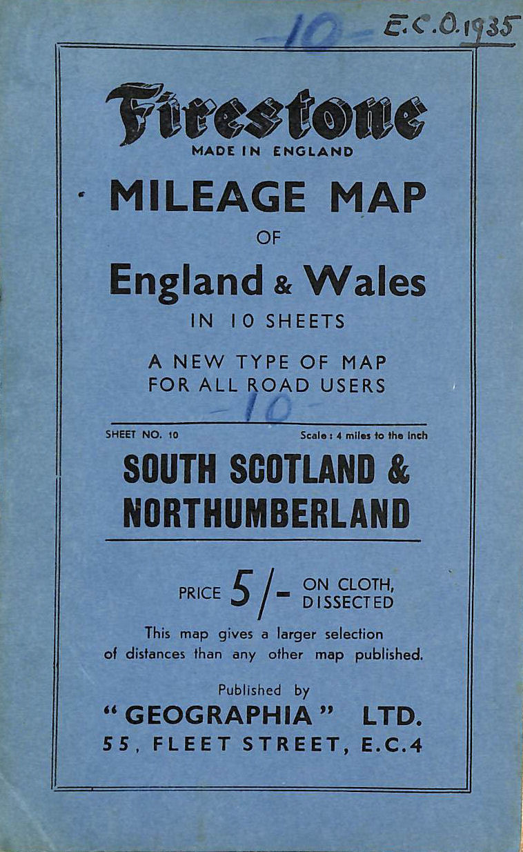 Image for Firestone Mileage Map South Scotland & Northumberland