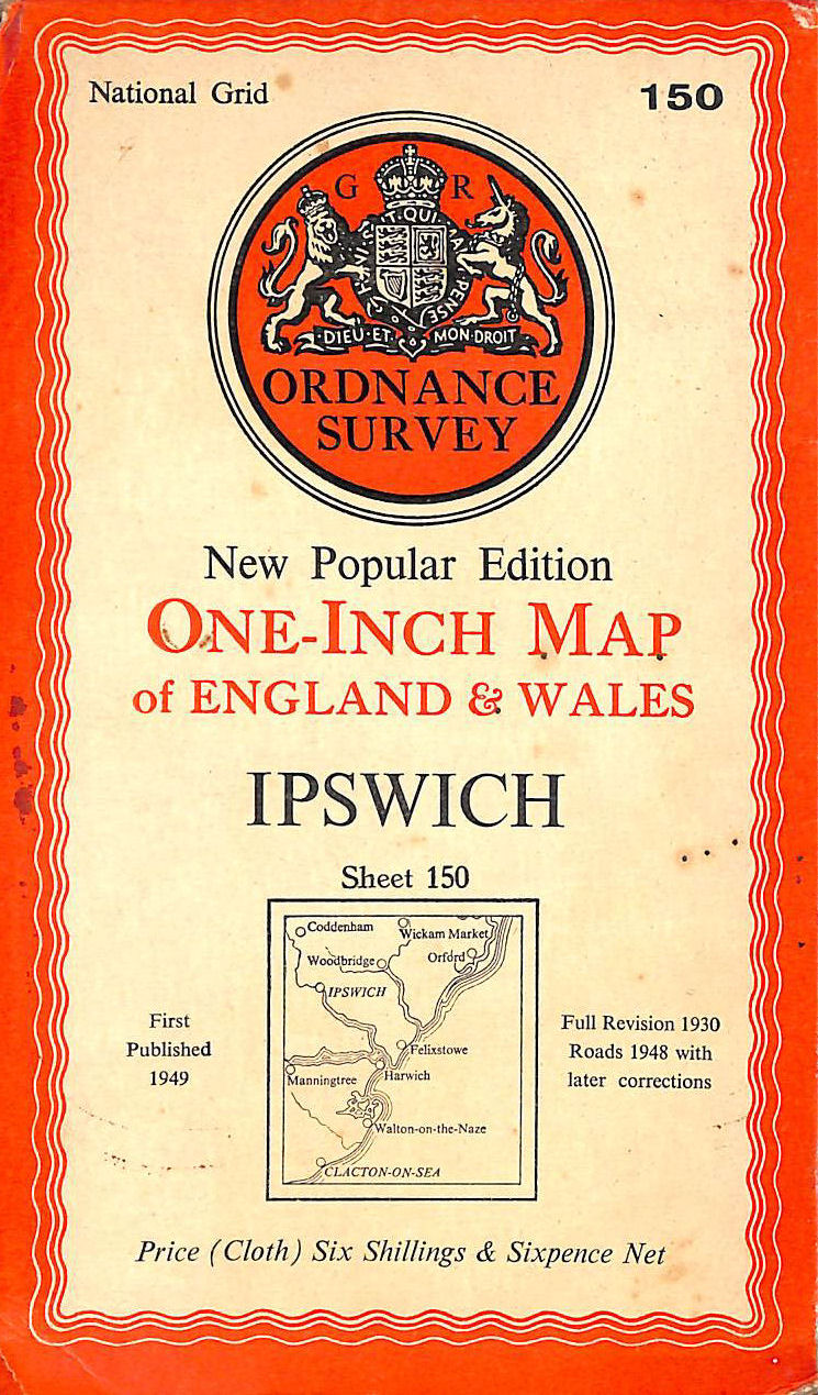 Image for Ordnance Survey New Popular Edition One-Inch Map Of England And Wales. Ipswich - Sheet 150. 1:50 000 First Series.