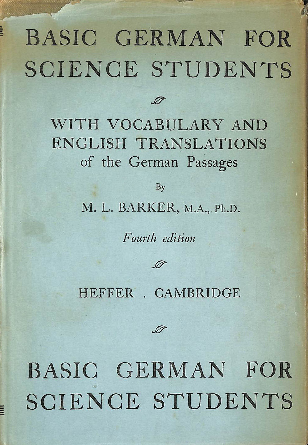 Image for Basic German for Science Students