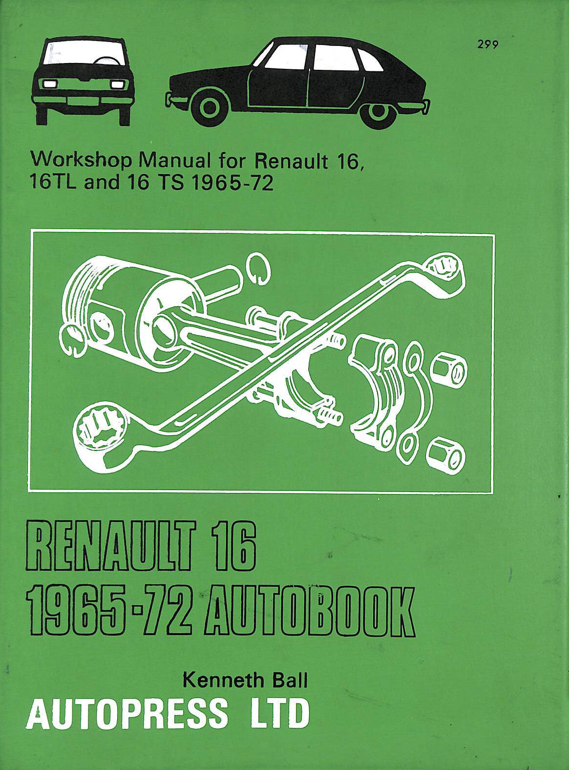 Image for Renault 16 1965-72 Autobook (The autobook series of workshop manuals)