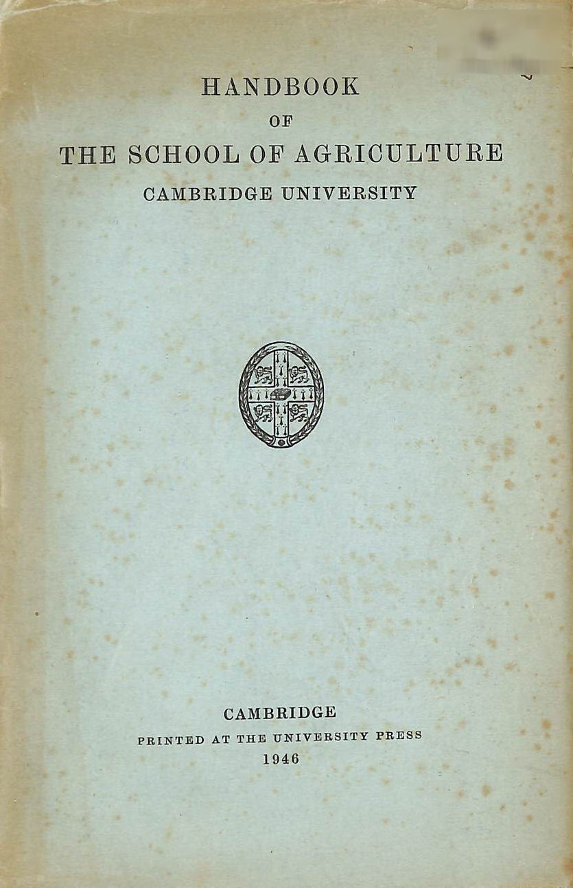 Image for Handbook of the School of Agriculture Cambridge University