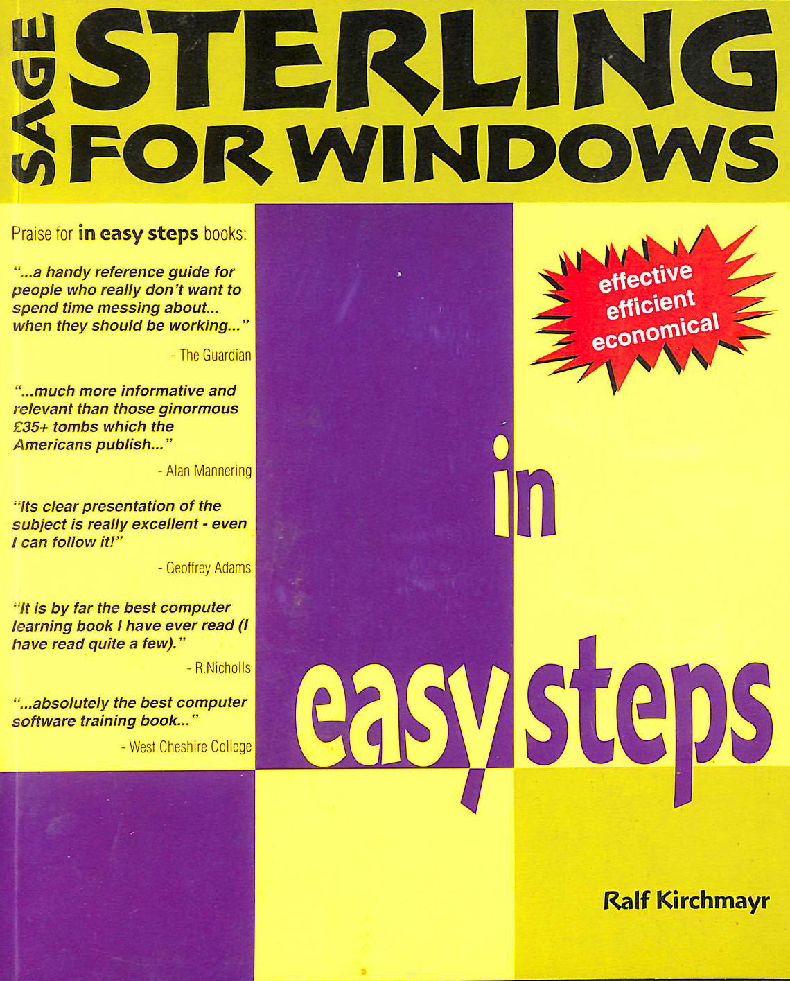 Image for Sage Sterling Ies: Up to V4 (In Easy Steps Series)