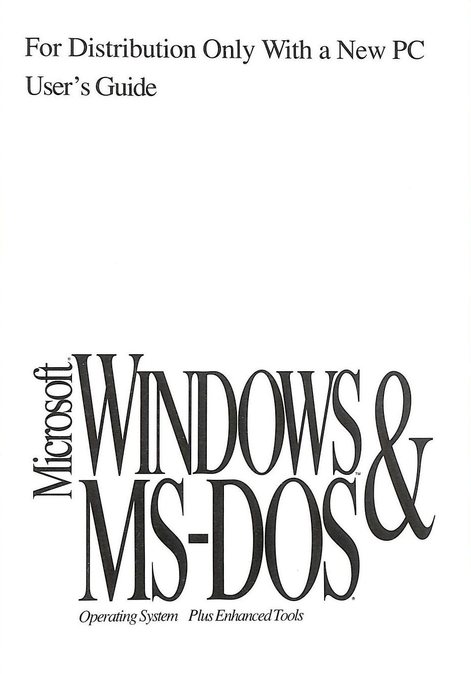 Image for Microsoft Windows [3.1] and MS-DOS [6.22]