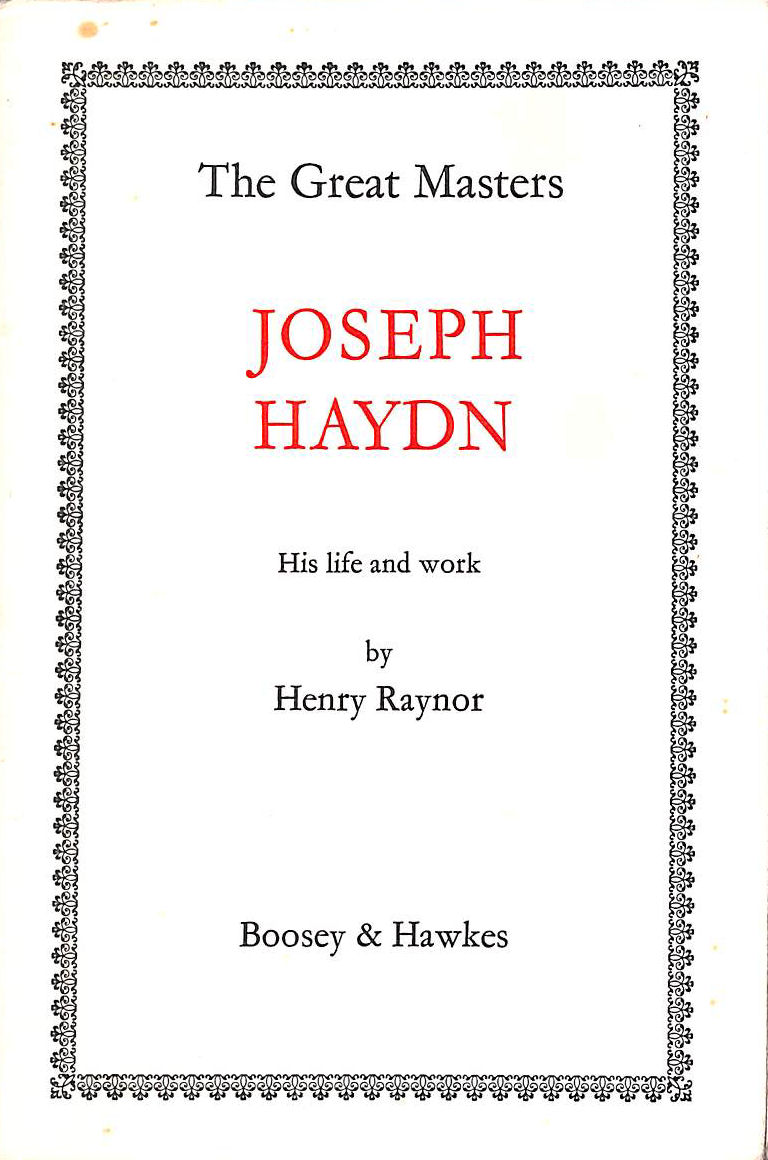 Image for Franz Joseph Haydn: His life and work