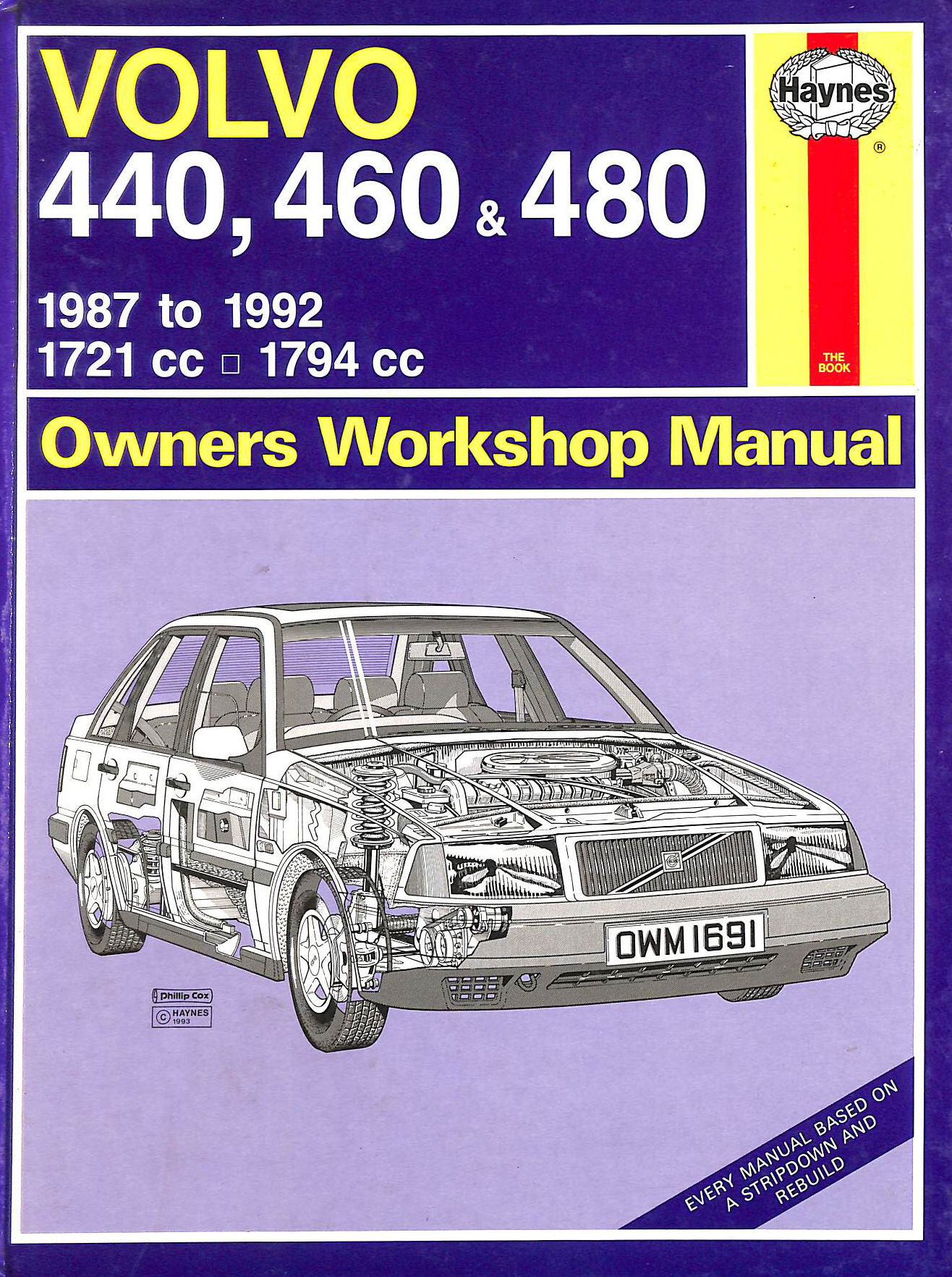 Image for Volvo 440, 460 and 480 Owners Workshop Manual (Service & repair manuals)