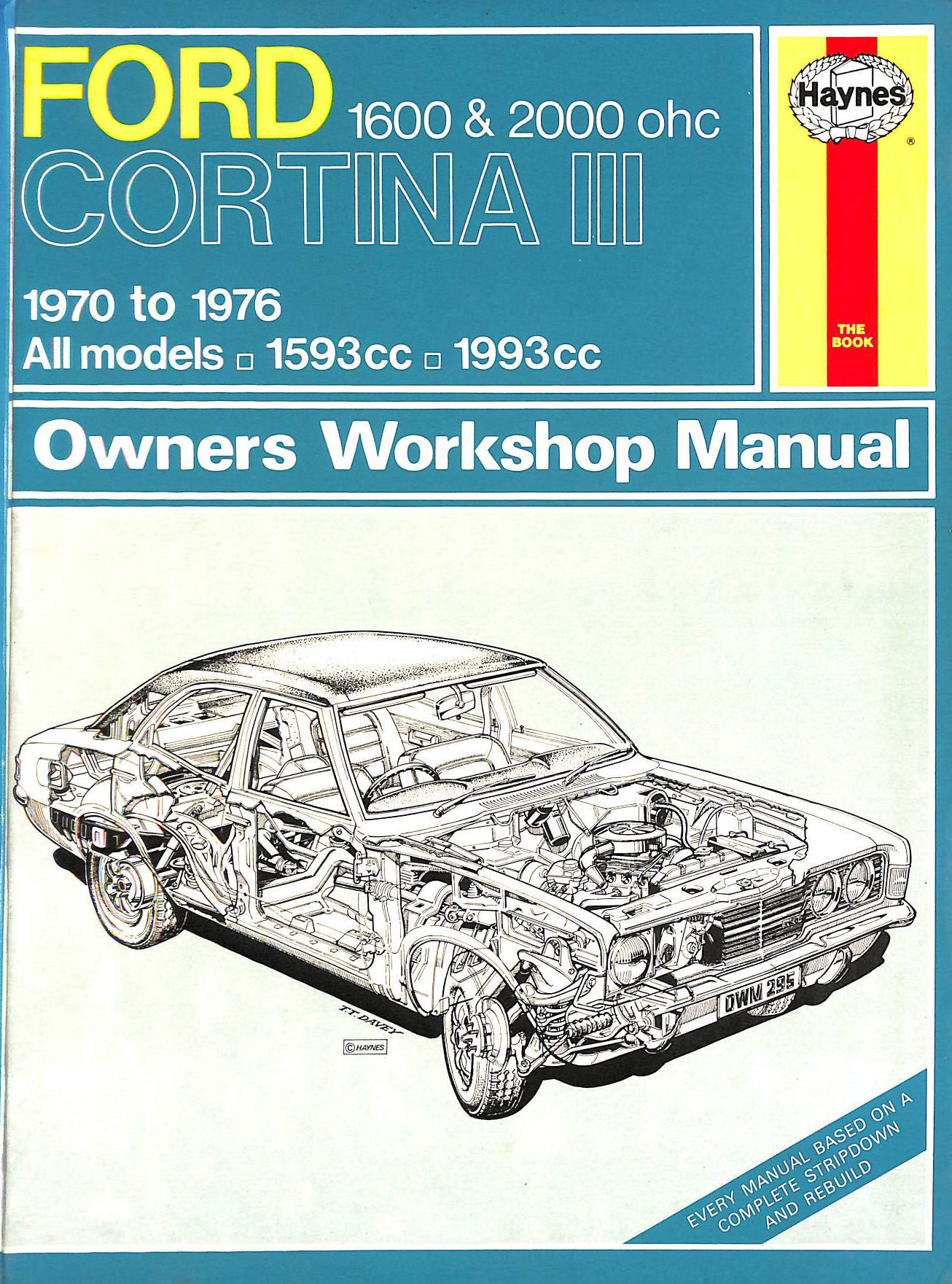 Image for Ford Cortina Mk.III 1600 and 2000 O.H.C.Owner's Workshop Manual (Service & repair manuals)