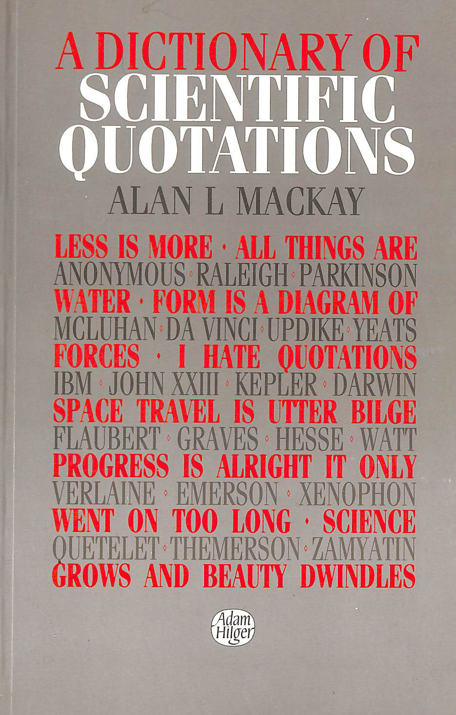 Image for A Dictionary of Scientific Quotations