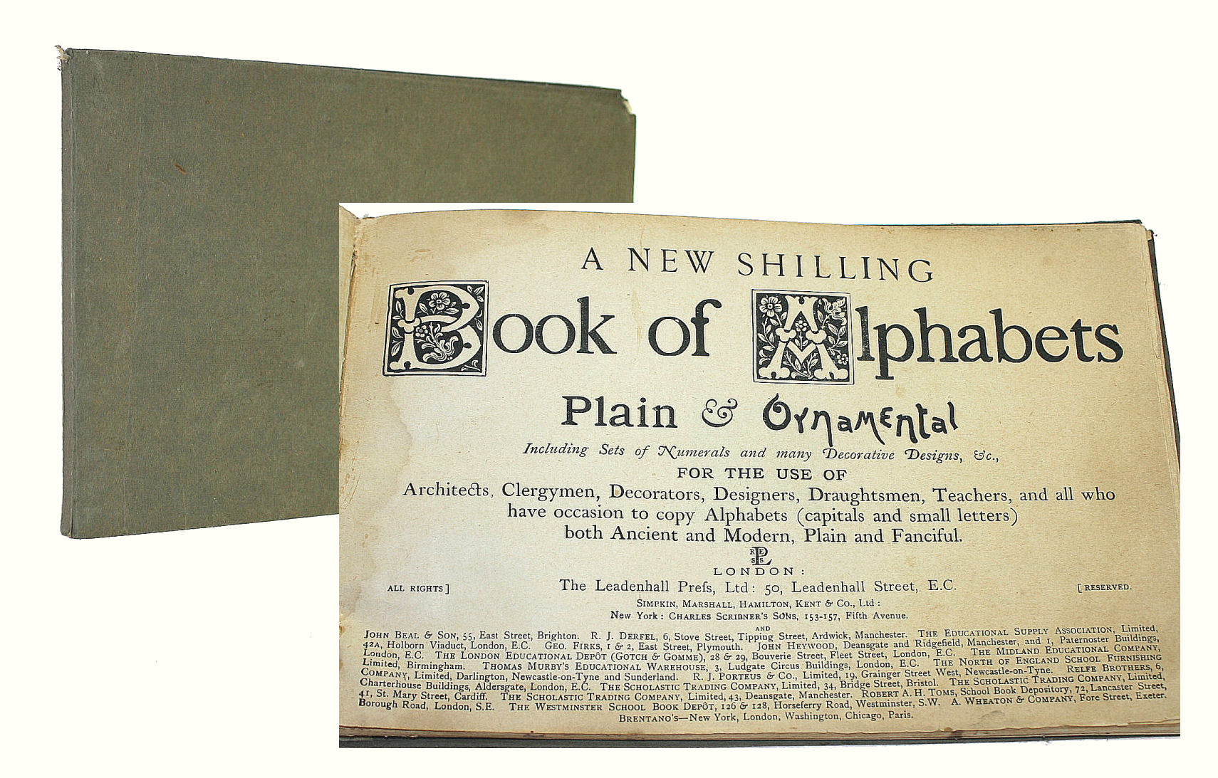 Image for A New Shilling Book of Alphabets Plain & Ornamental