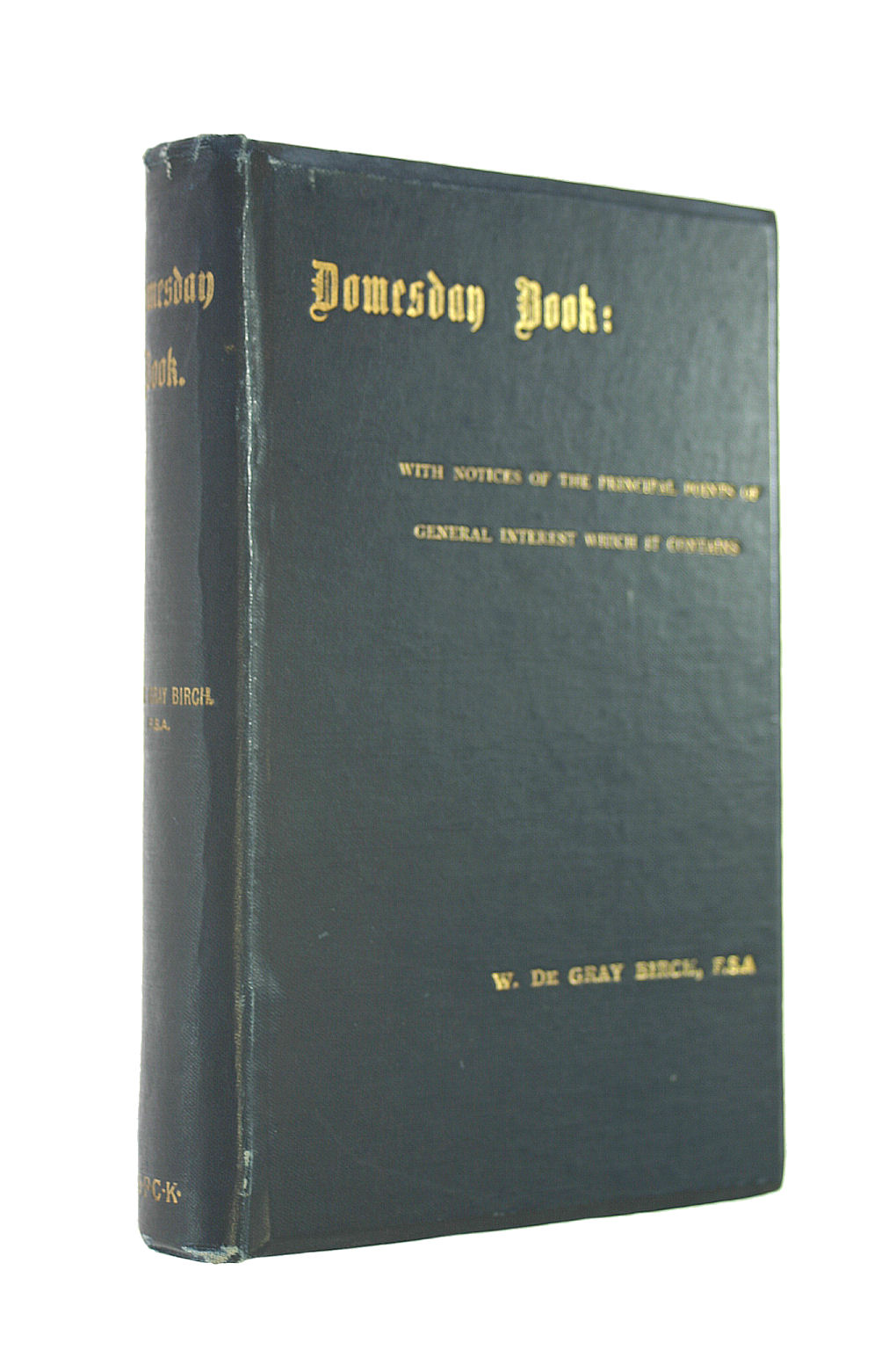 Image for Domesday Book: a Popular Account of the Exchequer Manuscript So Called With Notices of the Principal Points of General Interest Which It Contains