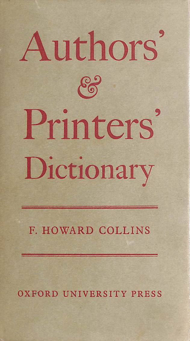 Image for Author's and Printers' Dictionary