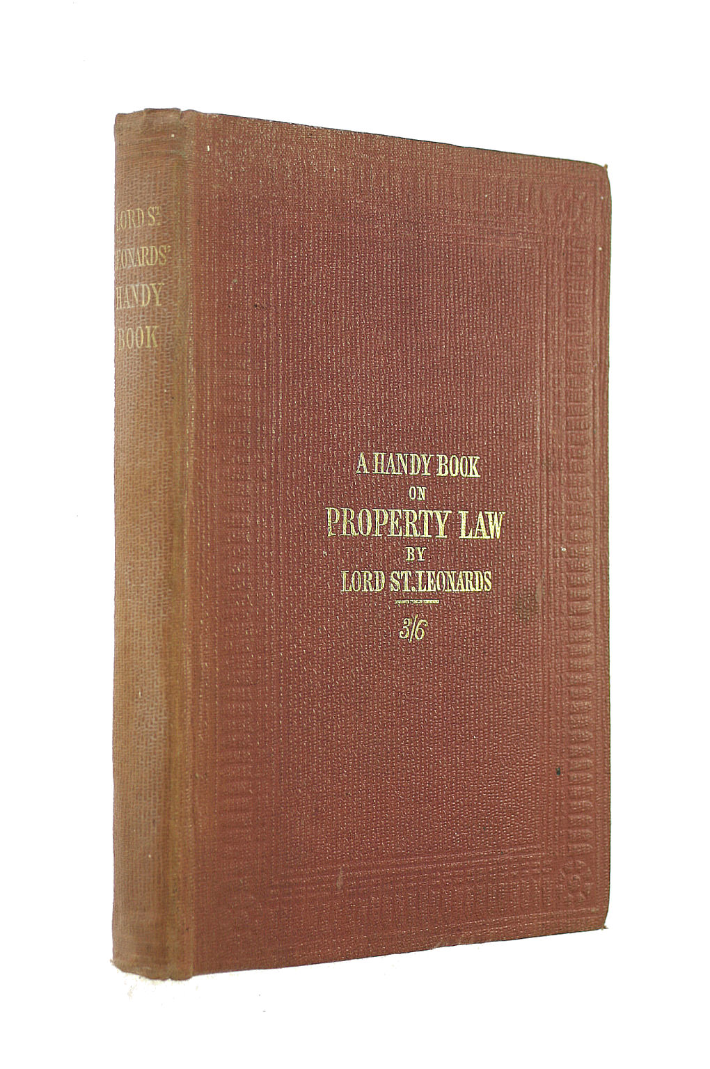 Image for A Handy Book On Property Law: In A Series Of Letters