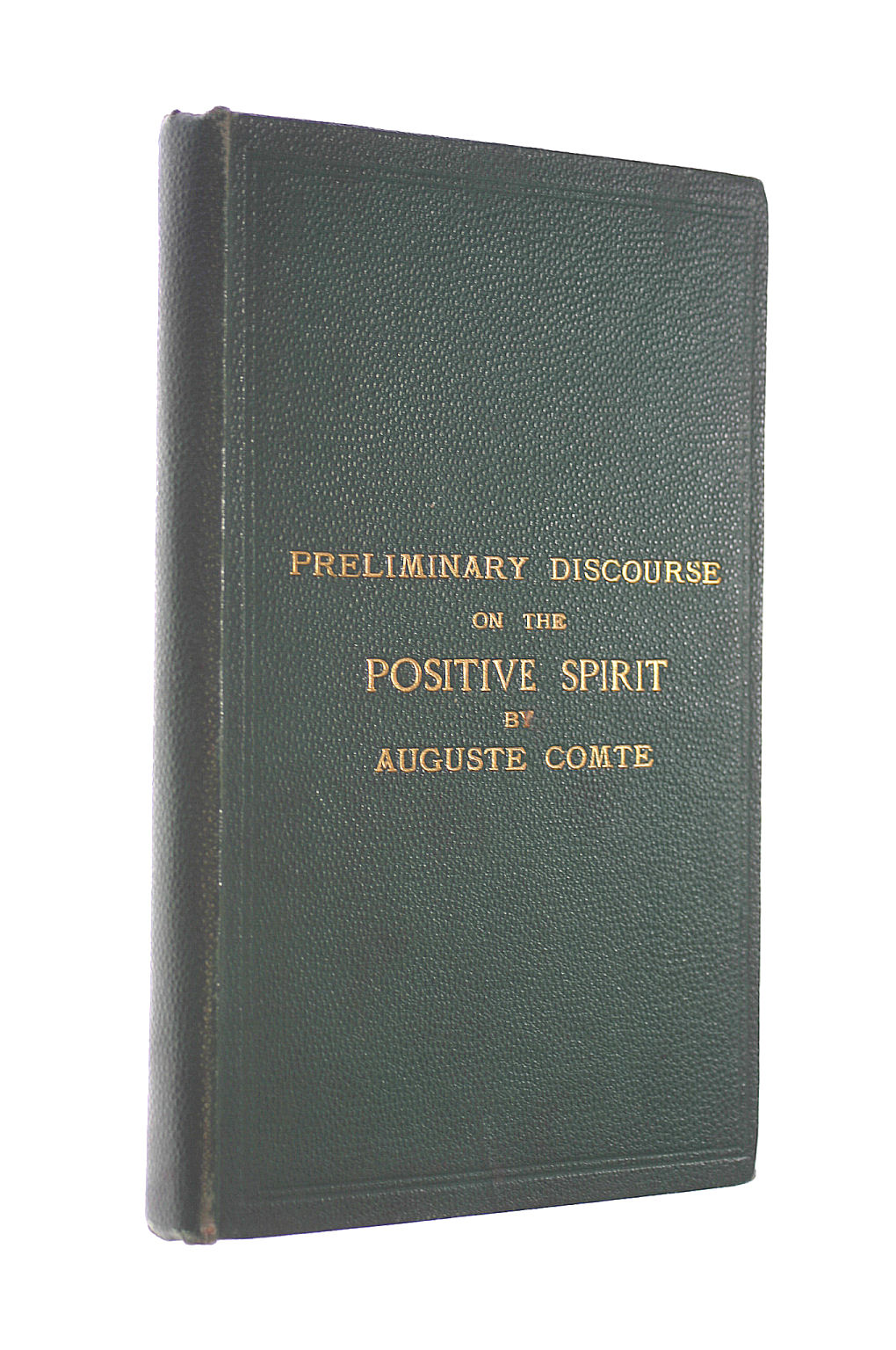 Image for Preliminary Discourse on the Positive Spirit