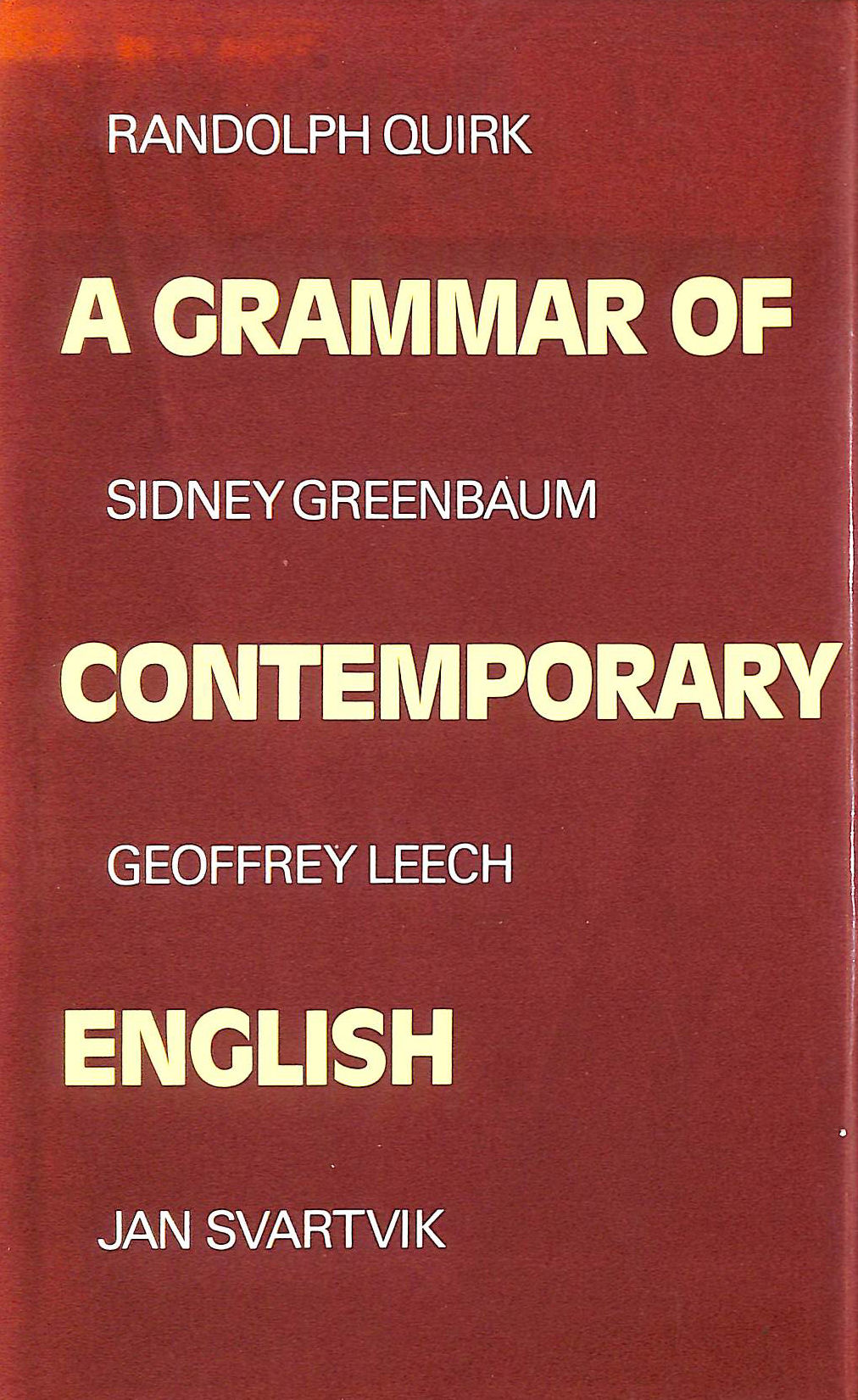 Image for A Grammar of Contemporary English