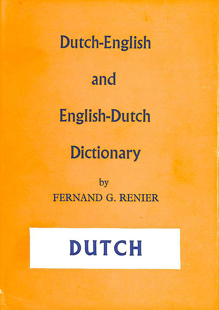 Image for Dutch-English and English-Dutch dictionary