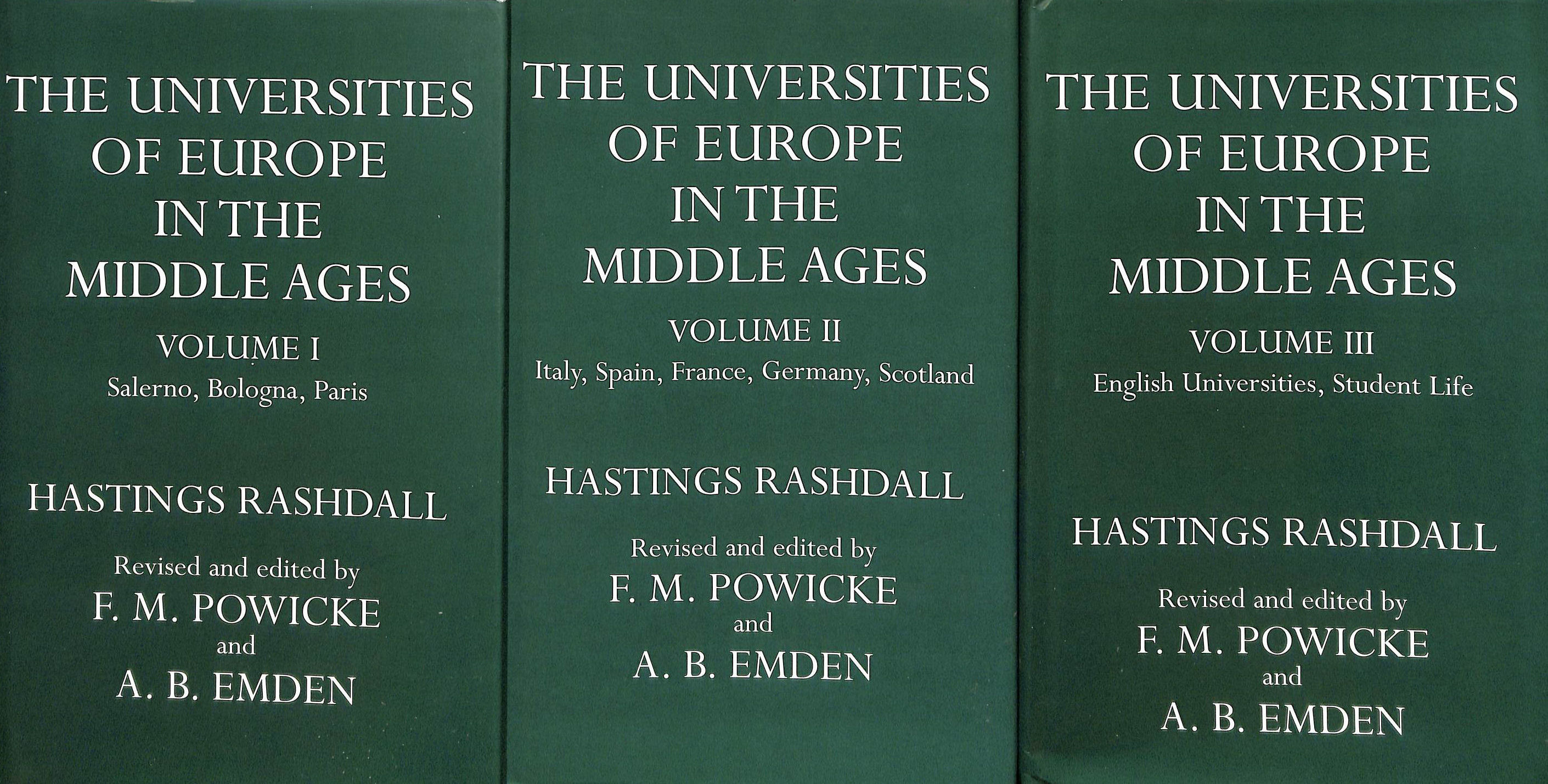 Image for The Universities of Europe in the Middle Ages - 3 Volumes