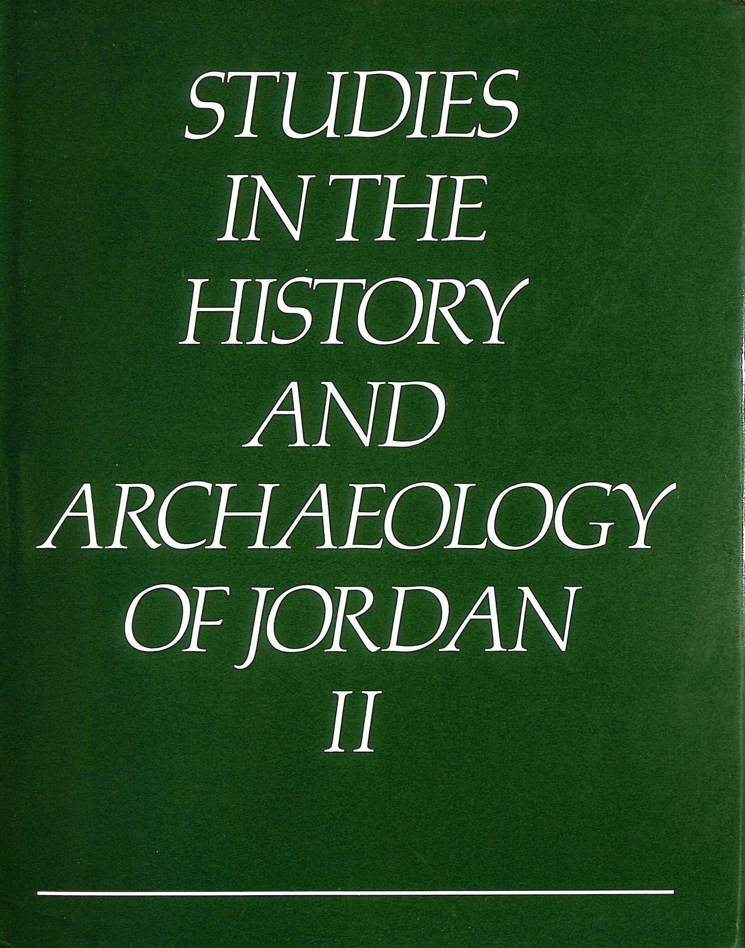 Image for Studies in the History and Archaeology of Jordan: v. 2