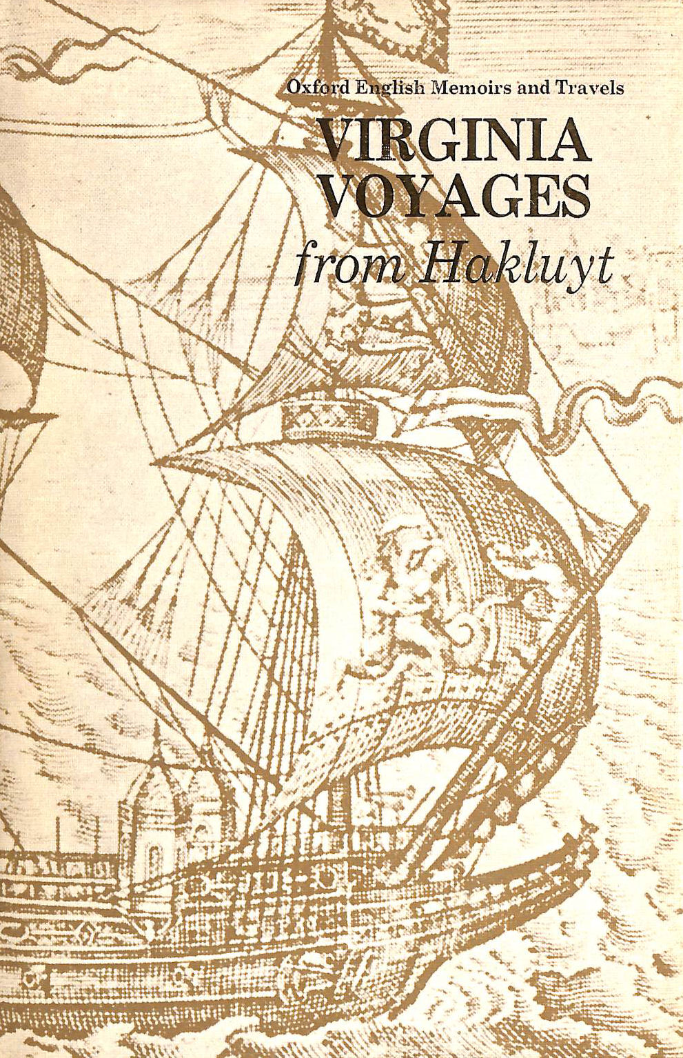 Image for Virginia Voyages (Oxford English memoirs and travels)