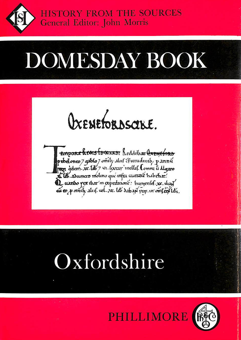 Image for The Domesday Book: Oxfordshire (Domesday Books (Phillimore)): History From the Sources