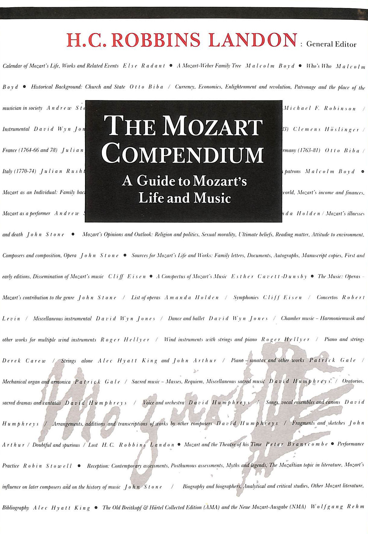 Image for The Mozart Compendium: A Guide to Mozart's Life and Music