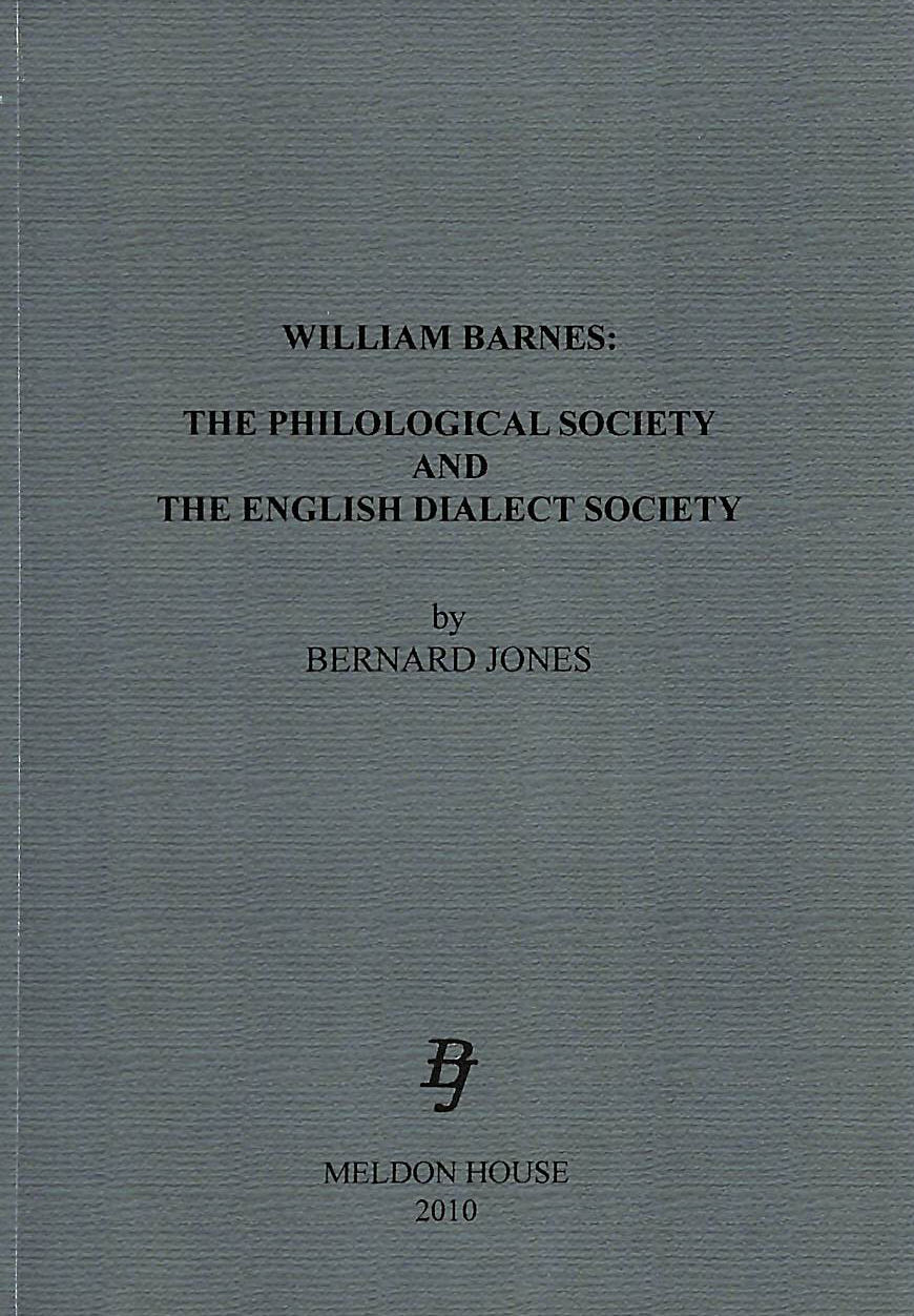 Image for William Barnes: The Philological Society and the English Dialect Society