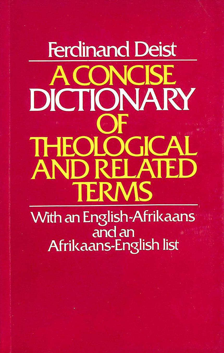 Image for A Concise Dictionary of Theological and Related Terms