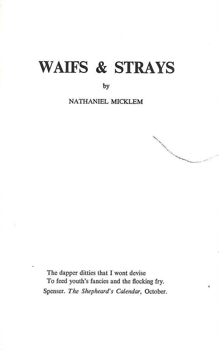 Image for Waifs and Strays