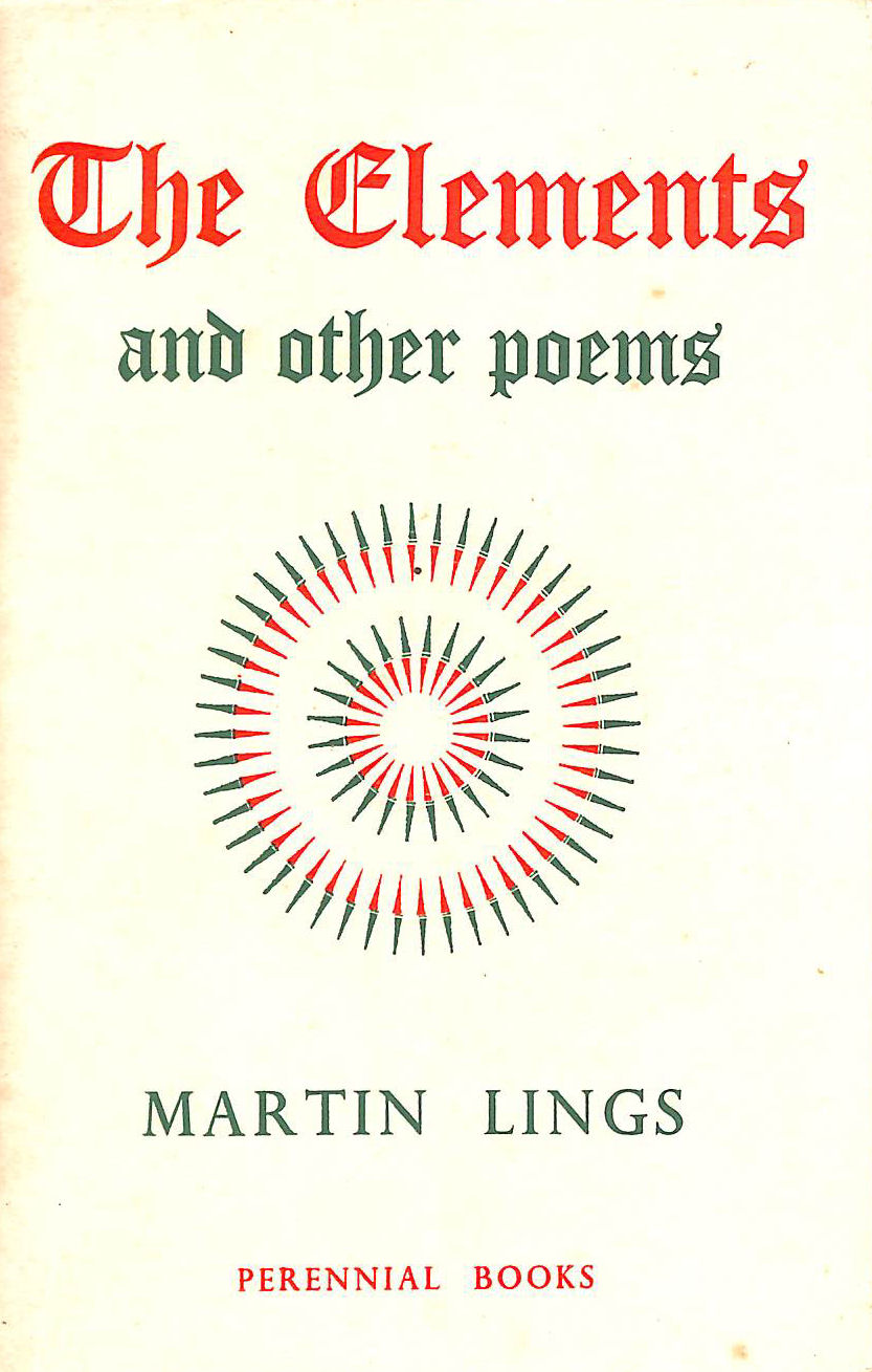 Image for The Elements and other poems