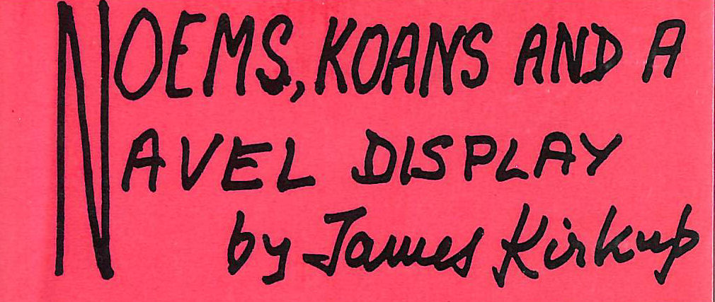 Image for Noems, Koans and a Naval Display