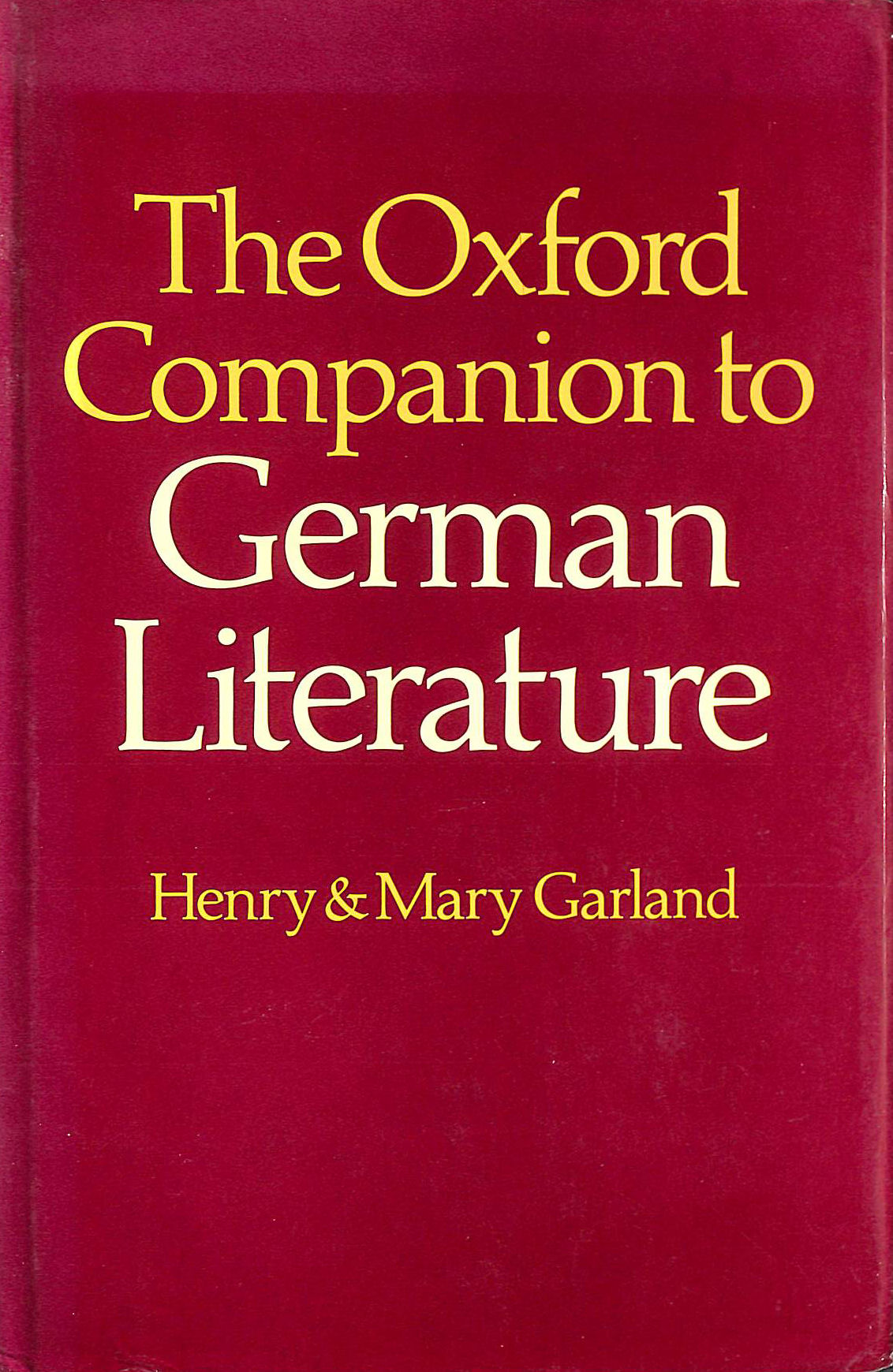 Image for Oxford Companion to German Literature