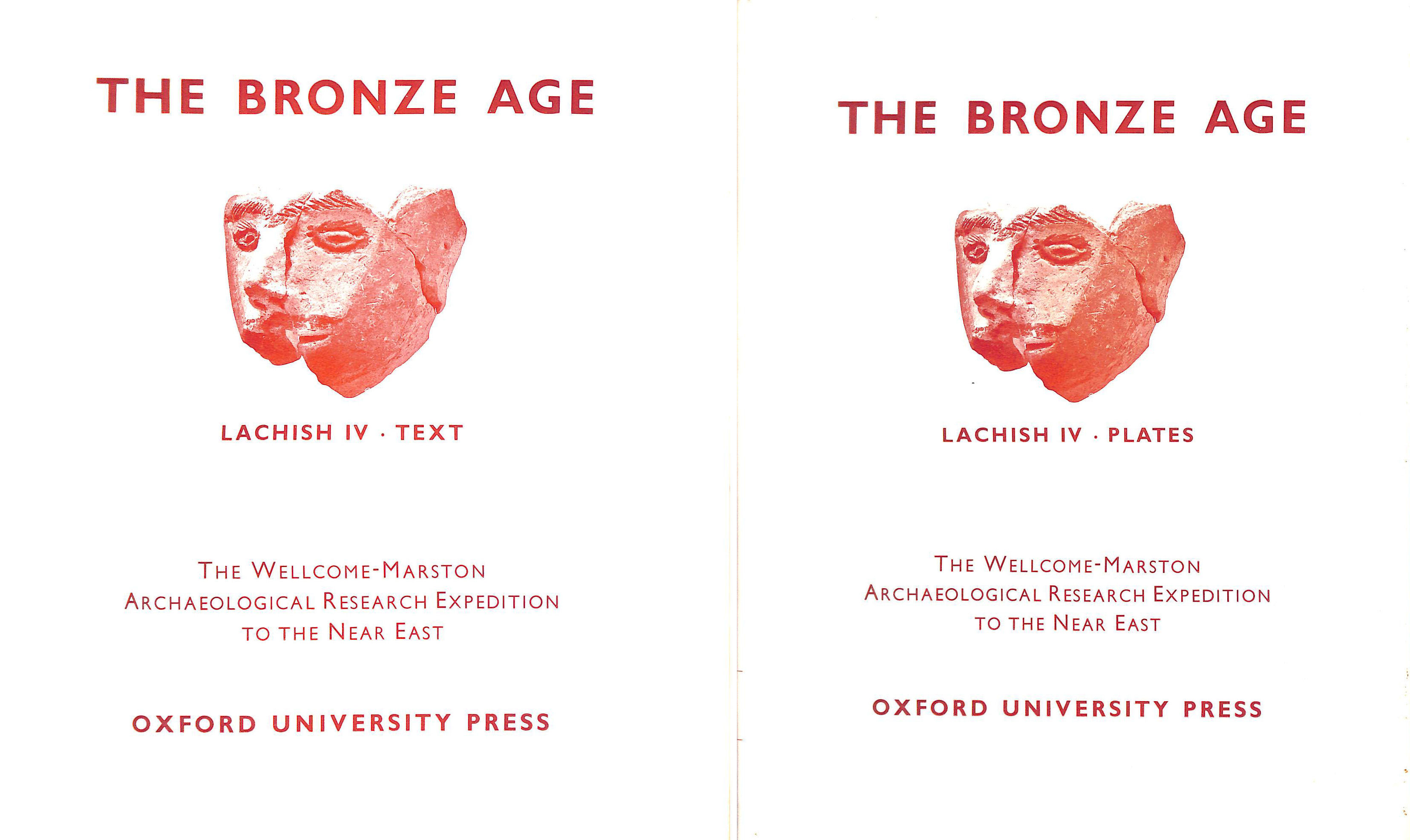 Image for The Bronze Age: Lachish IV Two Volumes Text and Plates.