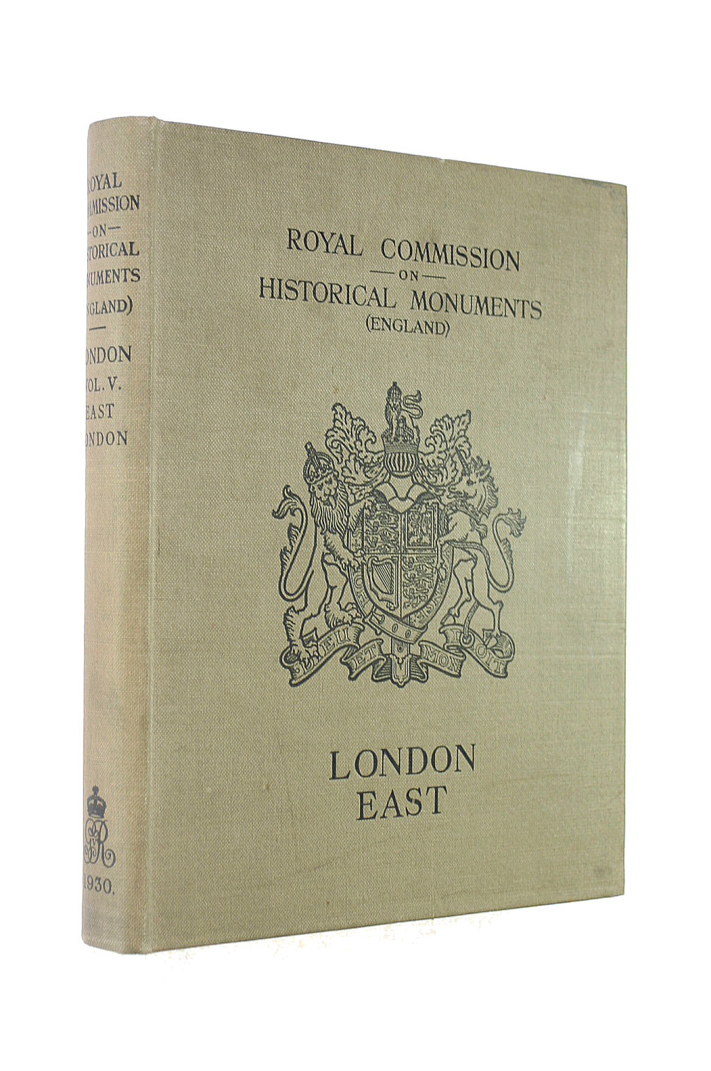 Image for Royal Commission On Historical Monuments .Volume 5, London East