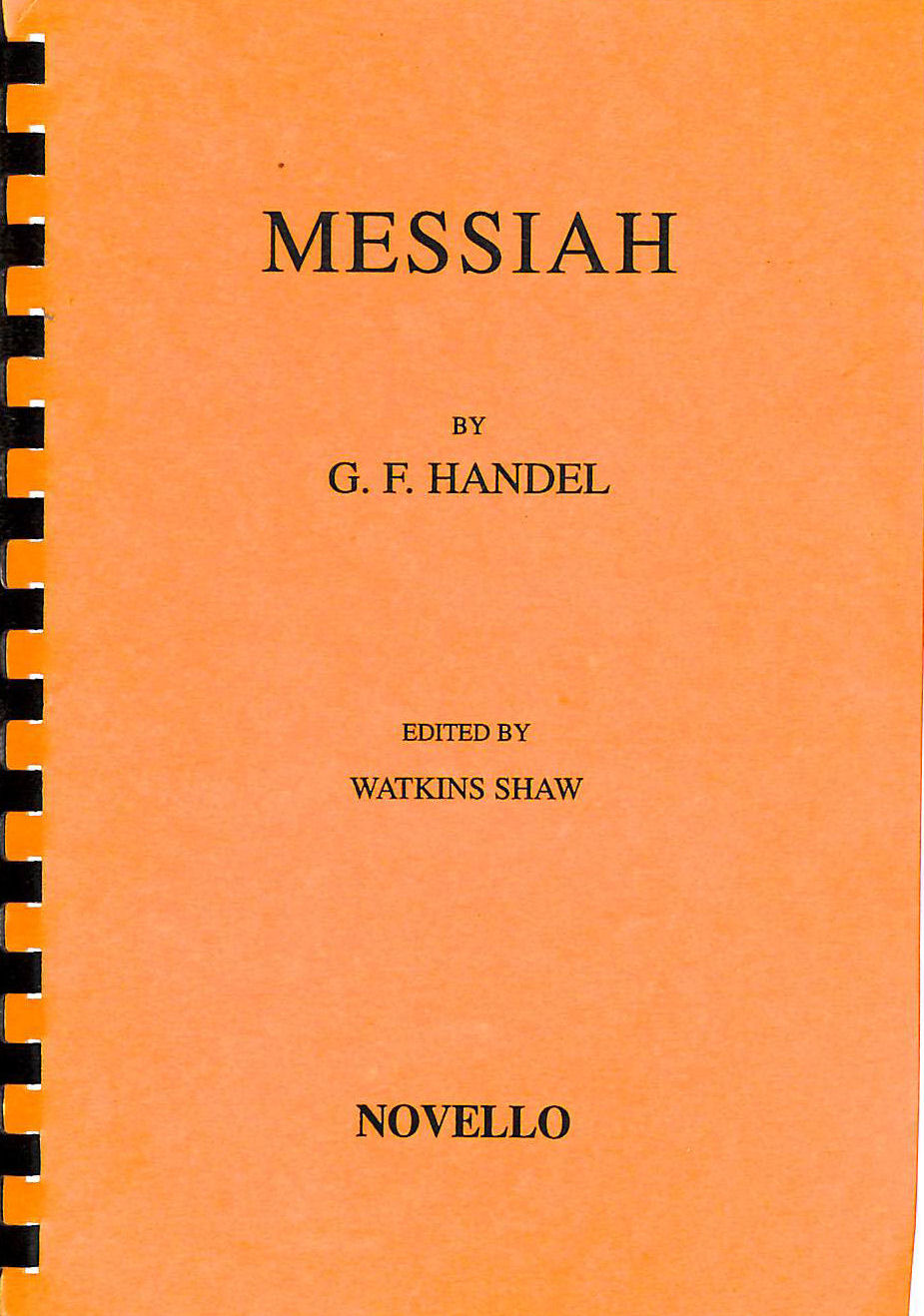 Image for Messiah, A Sacred Oratorio