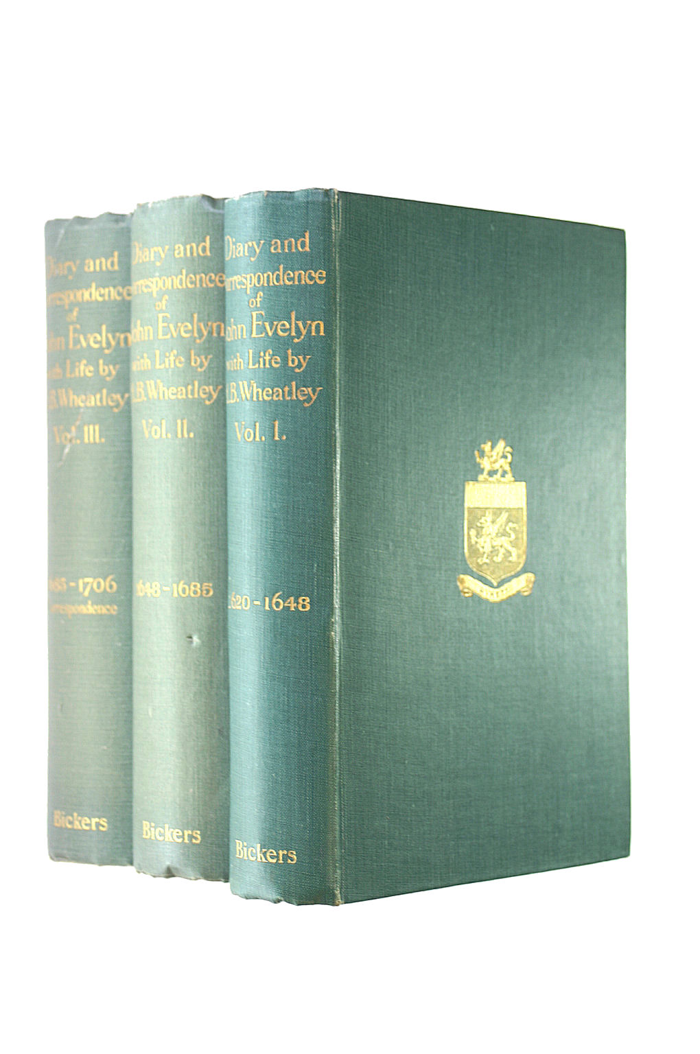 Image for Diary Of John Evelyn. Volumes 1-3, 1620-1706.