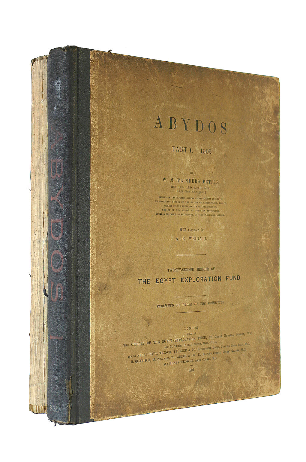 Image for Abydos (Part I: 22nd. Memoir of the Egypt Exploration Fund): (Part I: 22nd. Memoir of the Egypt Exploration Fund) (Part II: 24th. Memoir of the Egypt Exploration Fund)