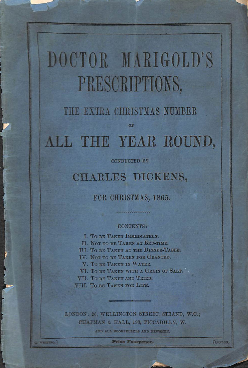 Image for Doctor Marigolds Prescriptions The Extra Christmas Number.