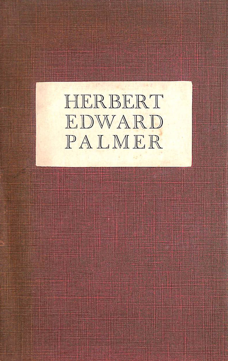 Image for The Augustan Books of Poetry : Herbert Edward Palmer