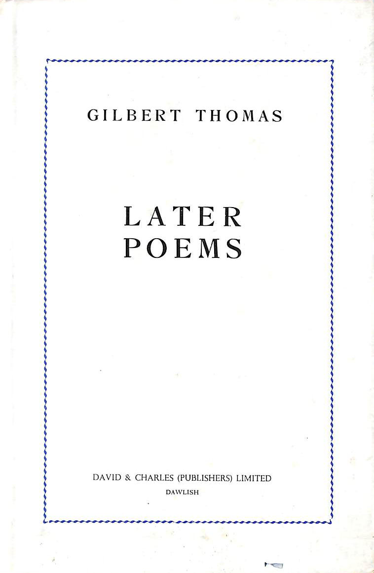 Image for Later Poems
