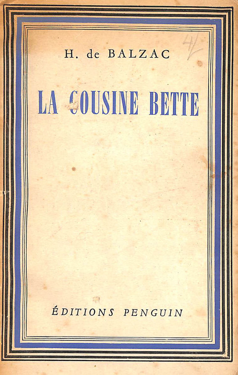 Image for La Cousine Bette (Editions Penguin.)