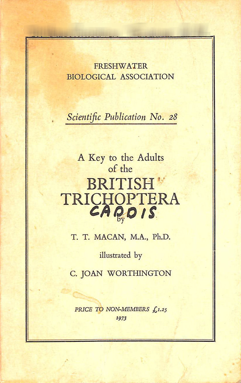 Image for Key to the Adults of the British Trichoptera (Scientific publication no.28, Freshwater Biological Association)