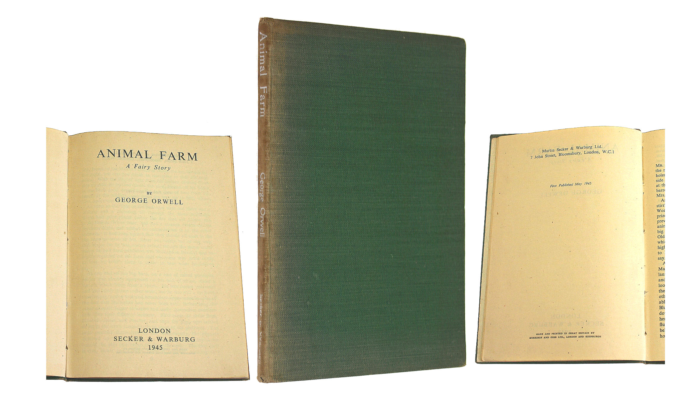 Image for Animal Farm, A Fairy Story (1945 First Edition, no dust wrapper)