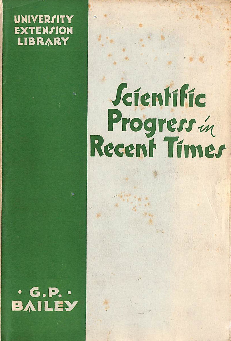Image for Scientific Progress in Recent Times