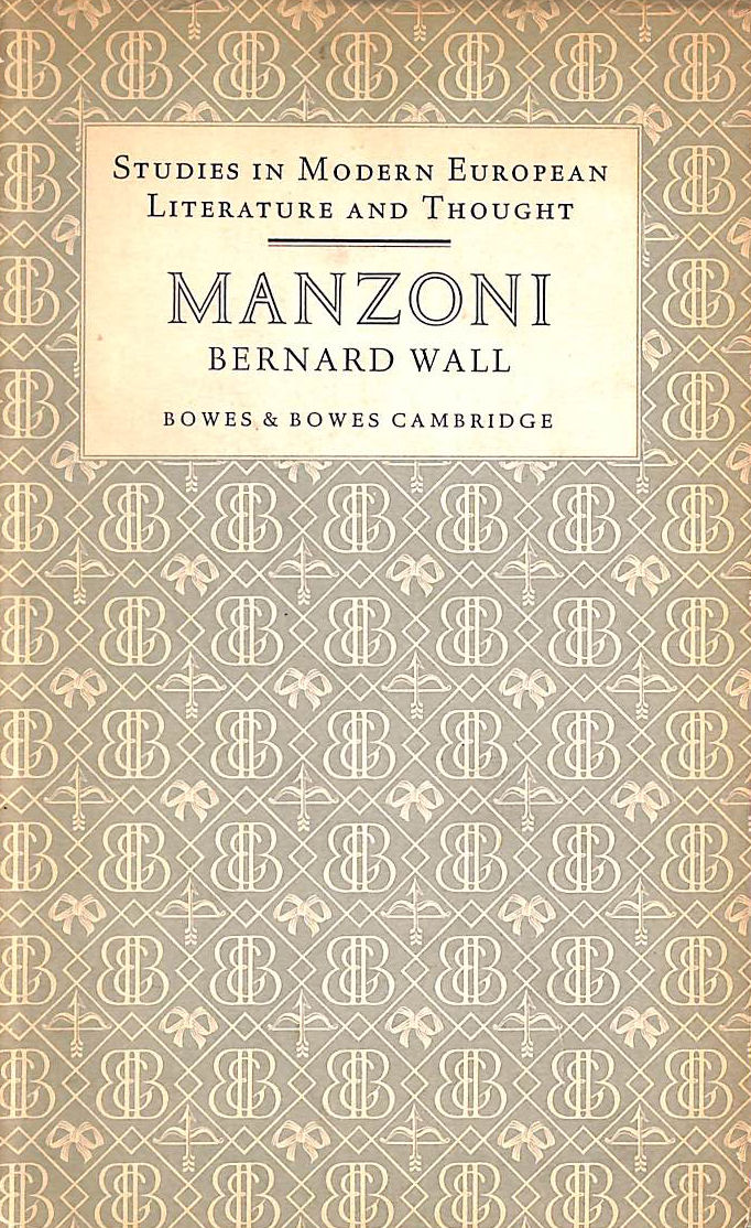 Image for Alessandro Manzoni (Studies in modern European literature and thought series)