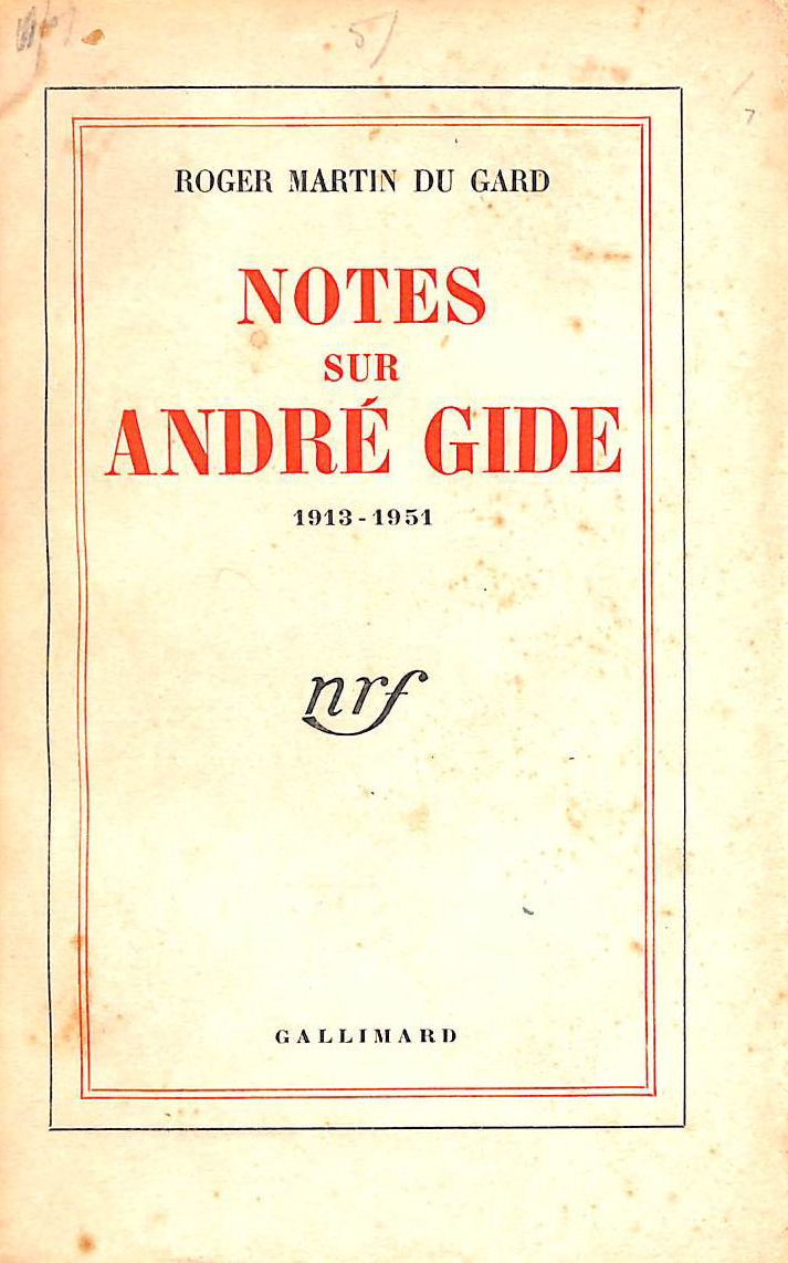 Image for Notes Sur Andre Gide: 1913-1951) (Blanche)