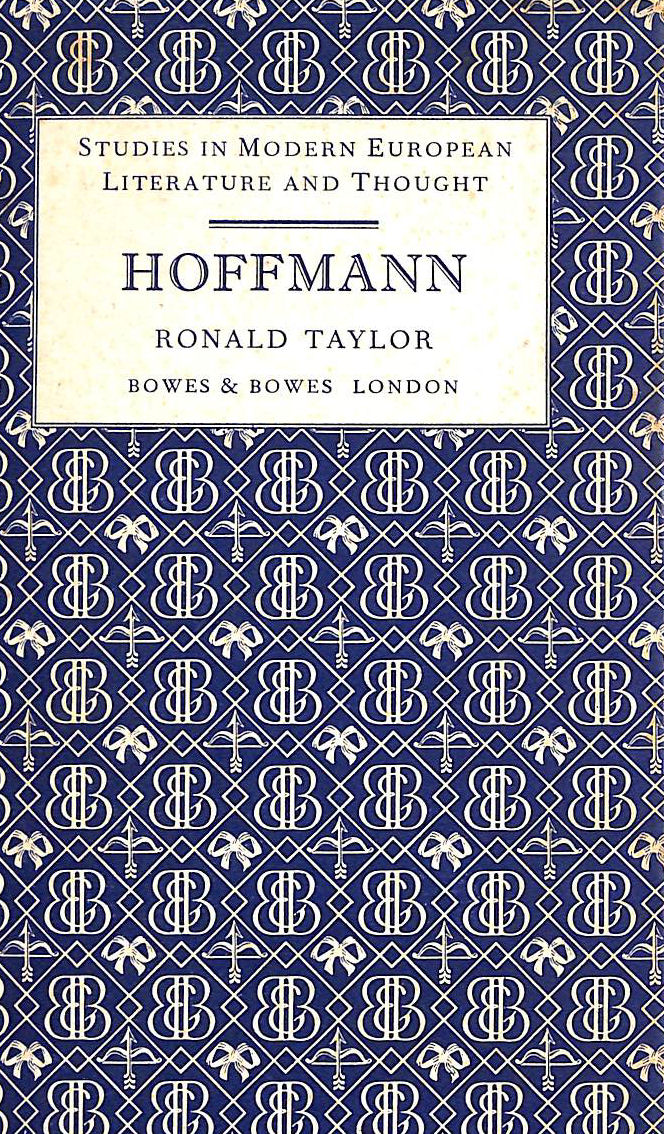 Image for Hoffmann (Studies in modern European literature and thought)