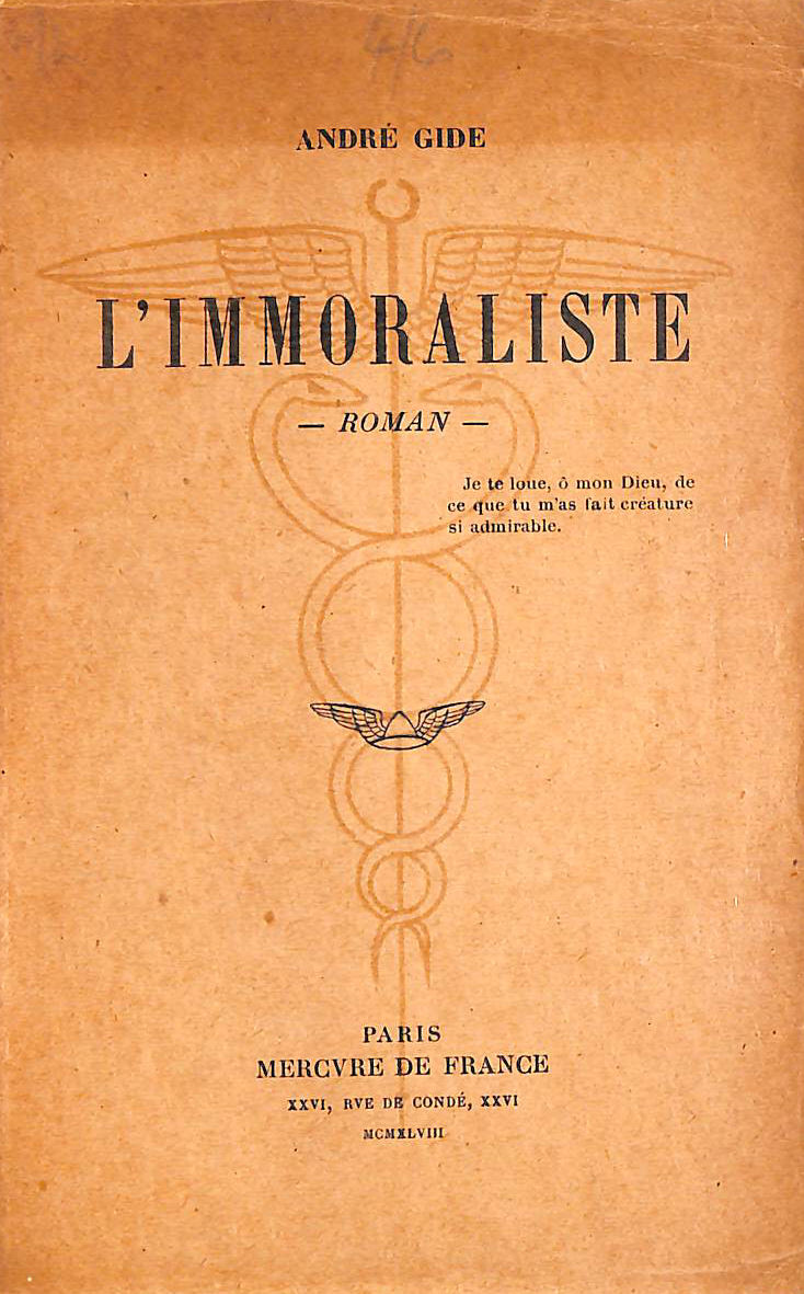 Image for L'immoraliste