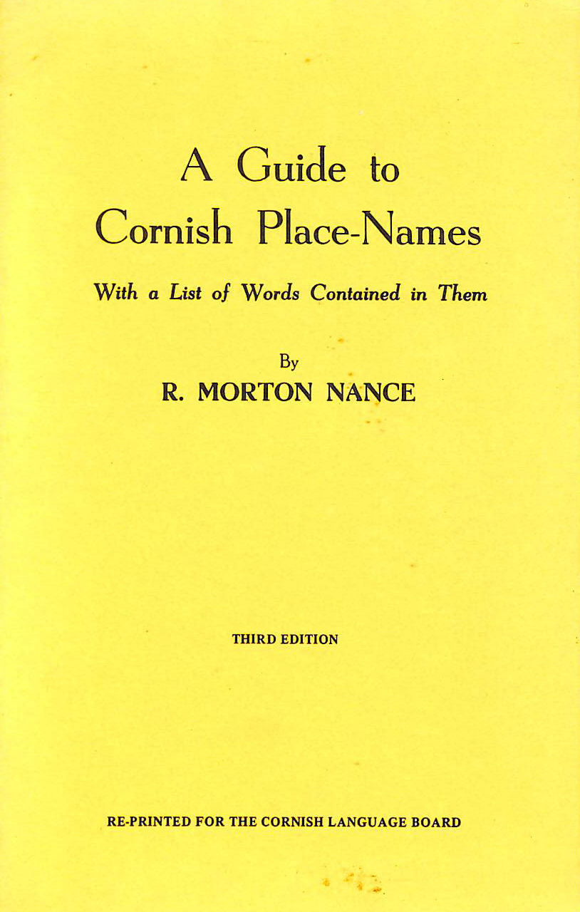 Image for Guide to Cornish Place Names, With a List of Words Contained in Them