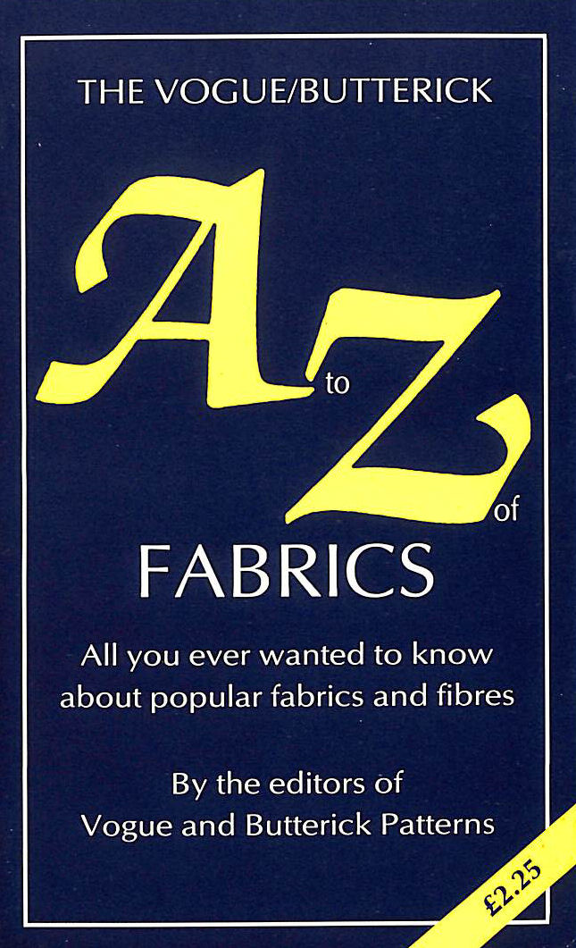 Image for Vogue / Butterick A to Z of Fabrics