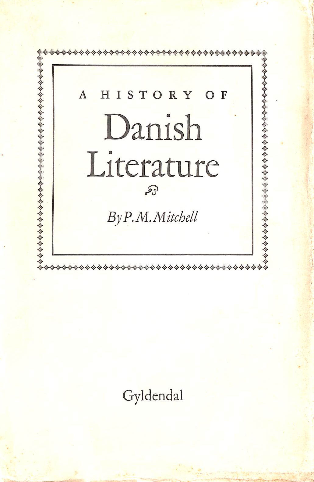 Image for A History of Danish Literature