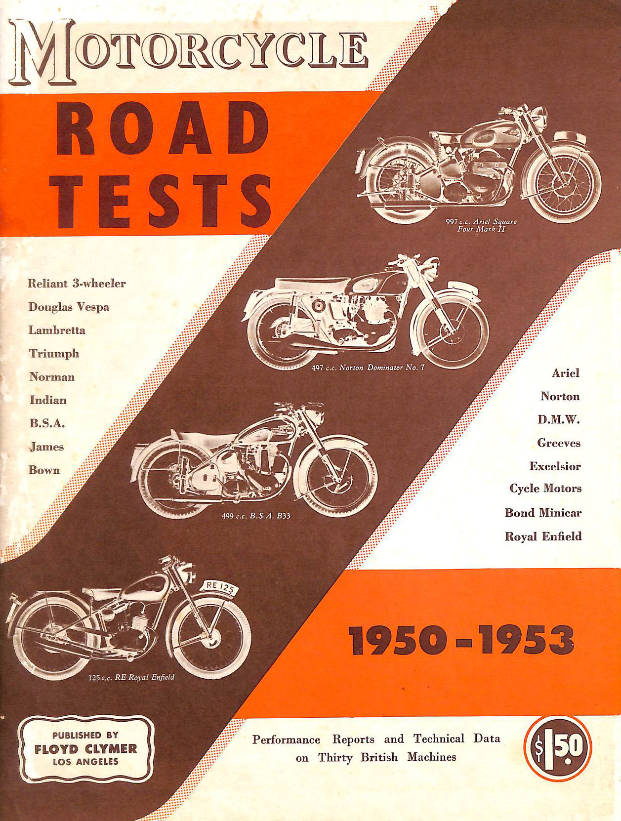 Image for The Motorcycle Road Tests 1950-1953 Second Series